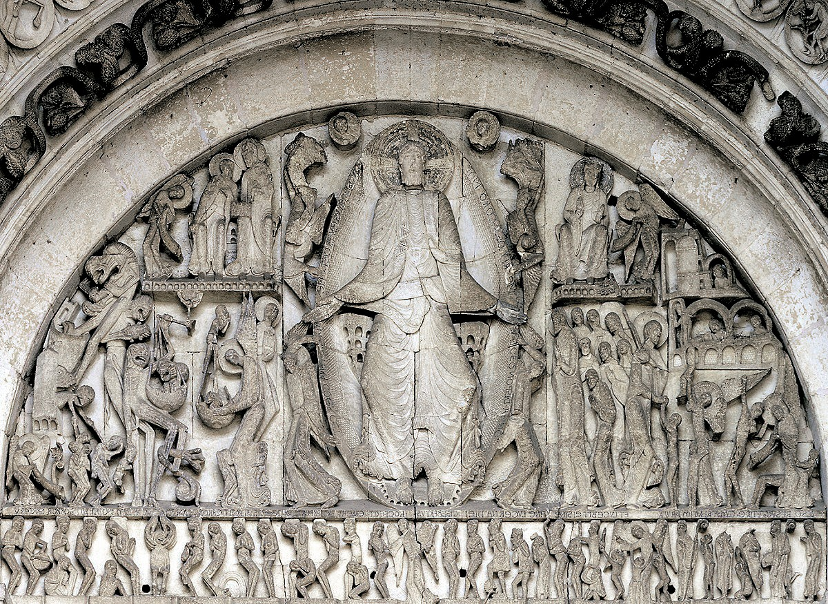 01x GISLEBERTUS. Last Judgment. West Tympanum of Saint-Lazare. Autun FR. ca 1120-35