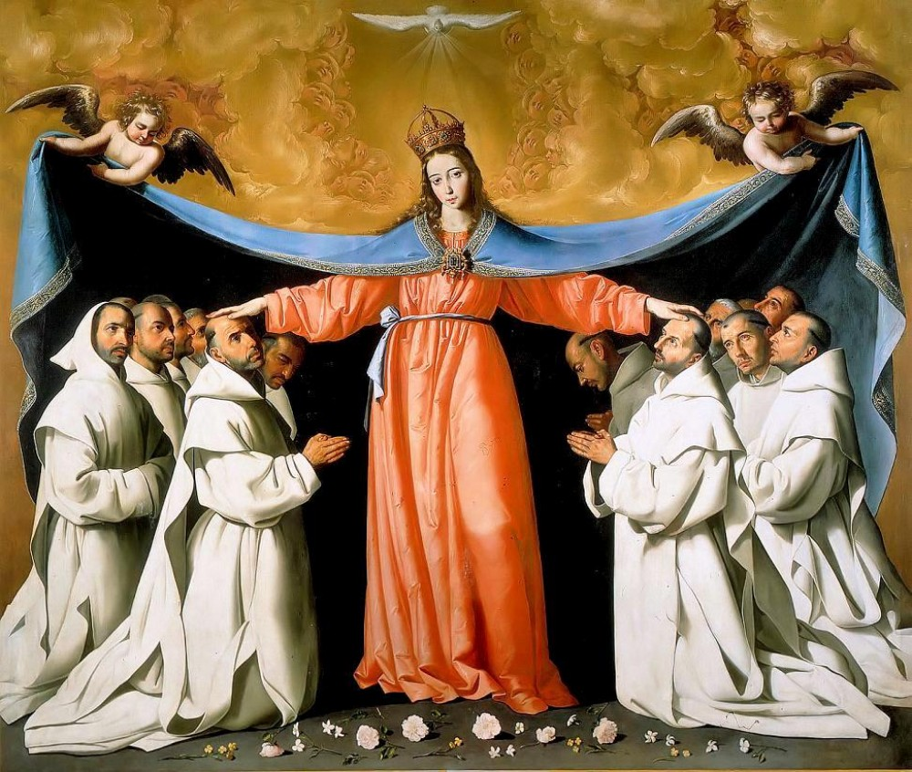Francisco de Zurbarán. Virgin of Mercy with Carthusian Monks. circa 1630-50