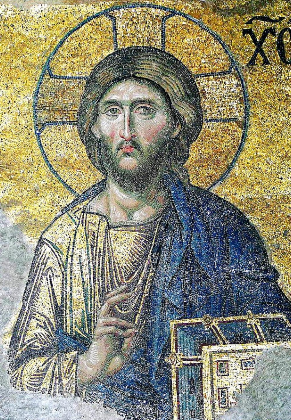 Unknown Artist. Christ Pantocrator. Deisis. Naos tis Agias tou Theou Sofias (Church of the Holy Wisdom of God). Istanbul (Turkey). 1261