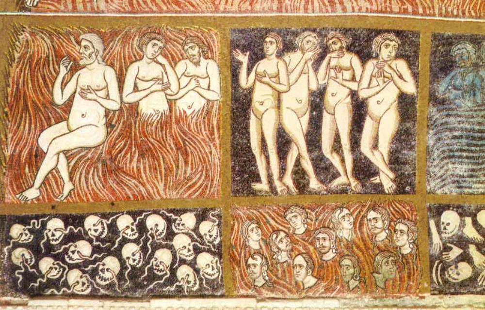 Unknown Artist. Sinners in Hell. Cattedrale di Santa Maria Assunta. Torcello (Italy). 12th century)