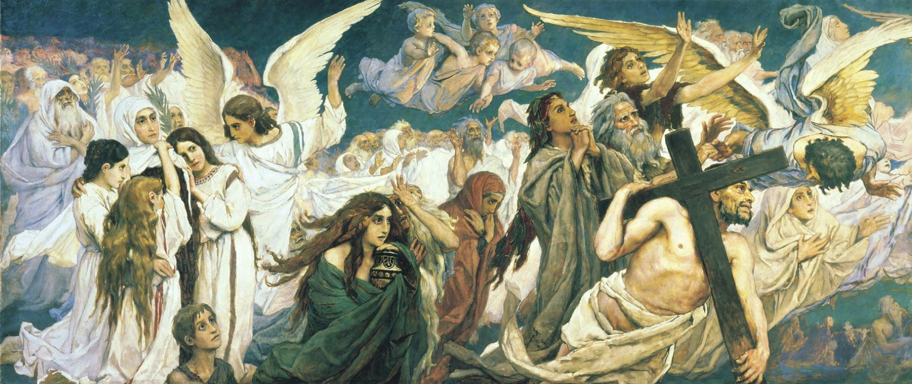 Viktor Vasnecov - Page 2 Viktor-vasnetsov-rejoice-in-the-lord-o-ye-righteous-panel-1-of-the-triptych-1896-e1277610501492