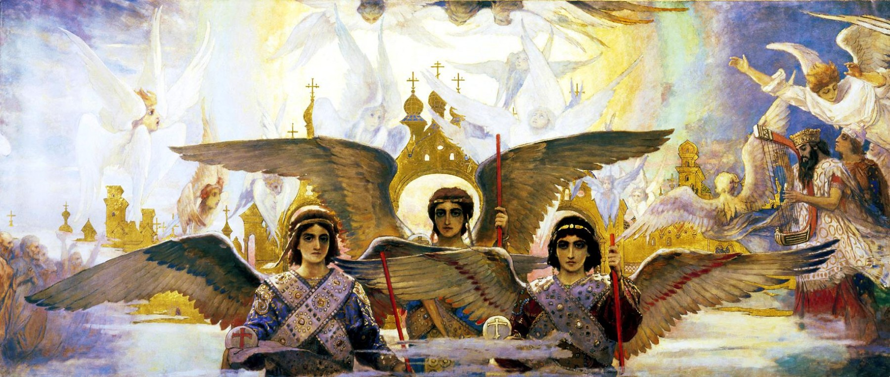Viktor Vasnecov - Page 2 Viktor-vasnetsov-rejoice-in-the-lord-o-ye-righteous-panel-2-of-the-triptych-1896-e1277610342126