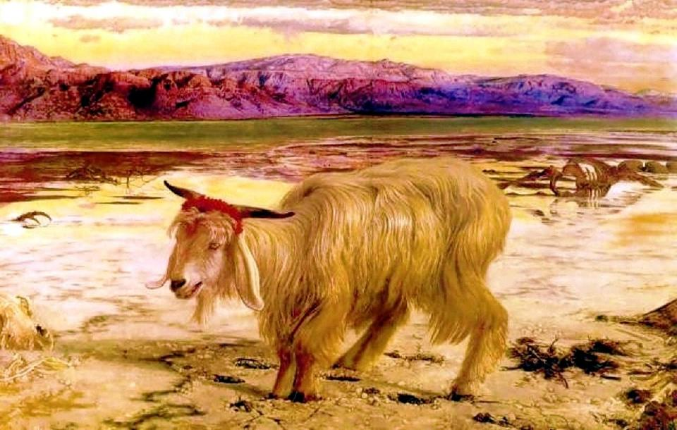 William Holman Hunt. The Scapegoat. 1856