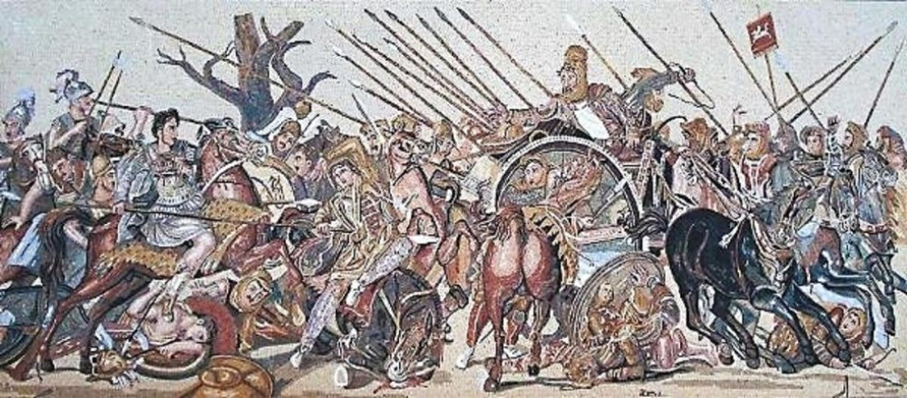 Unknown artist alexander mosaic greco roman pompeii for Battle of issus painting