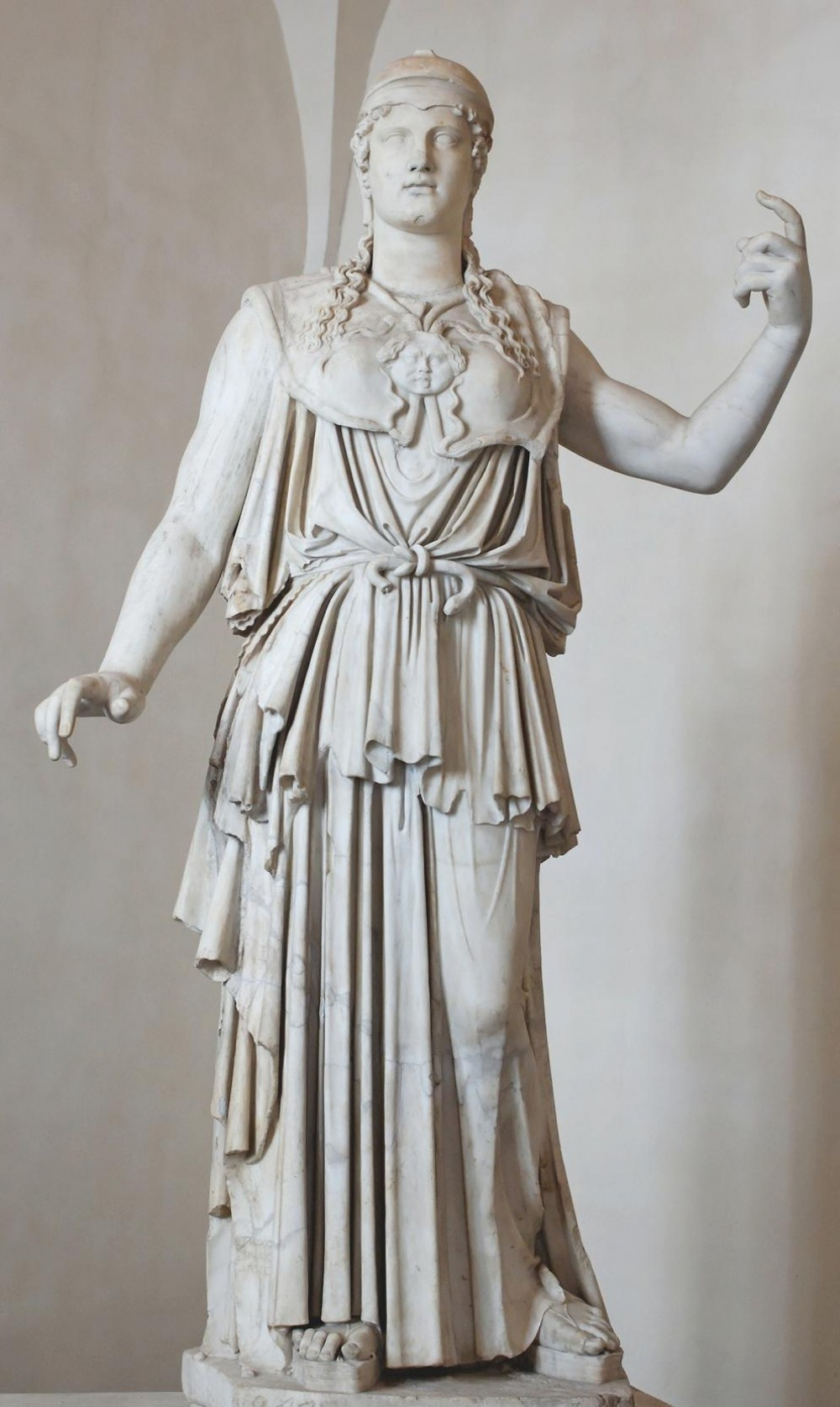 Antiokhos. Athena Parthenos. 1st century BC. Copy of 5th century BC original by Pheidias of Athens