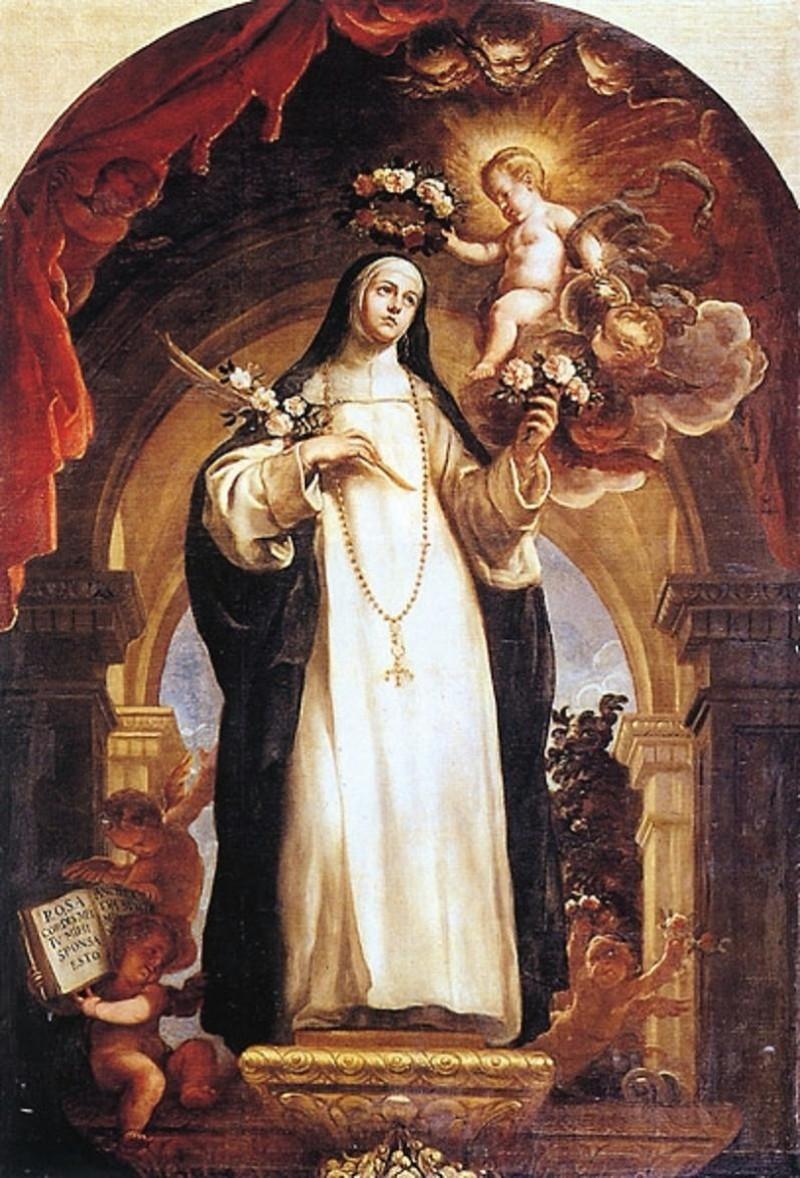St Rosa de Lima. 1684