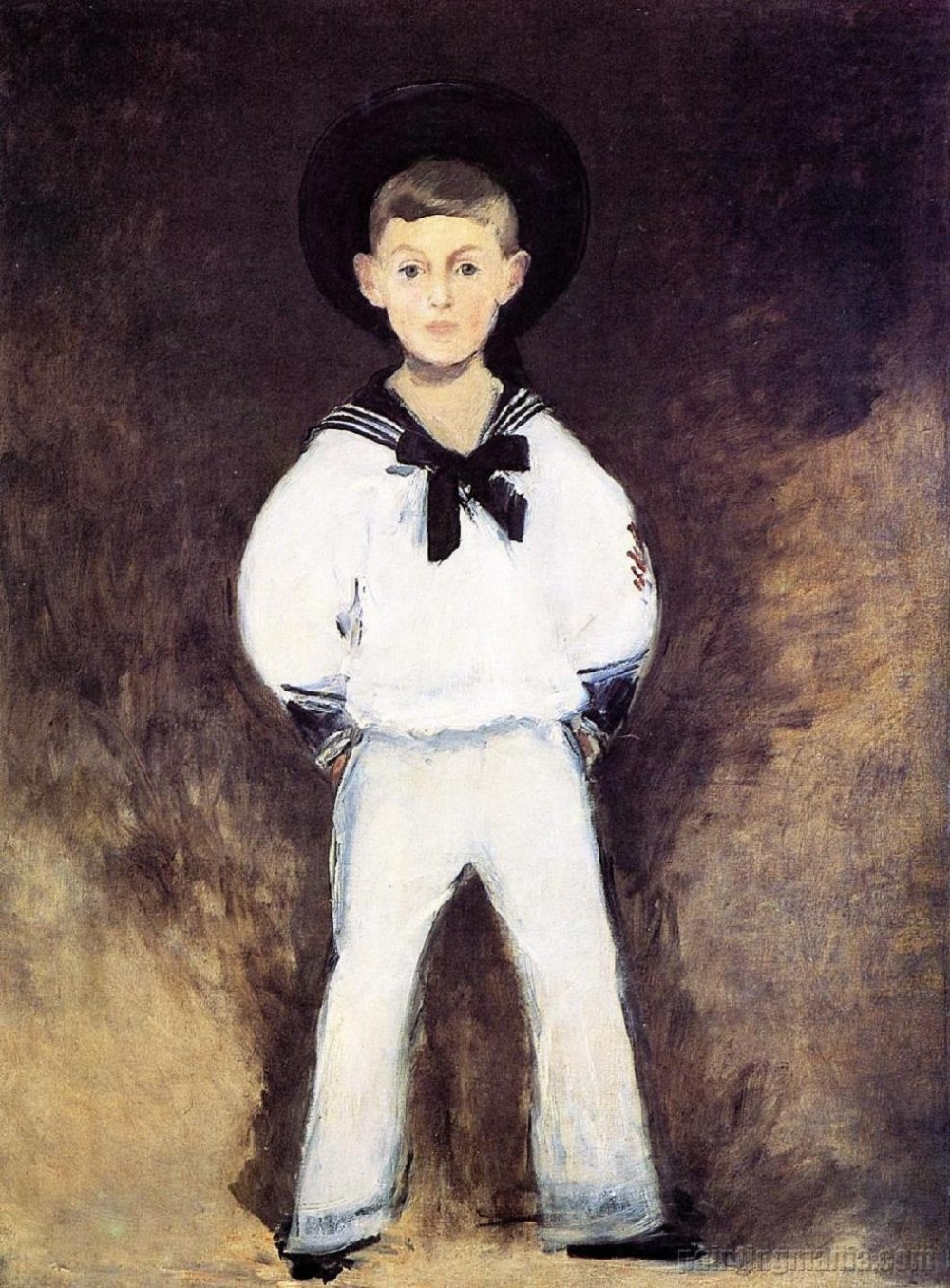 Édouard Manet. A Portrait of Henry Bernstein as a Child. 1881