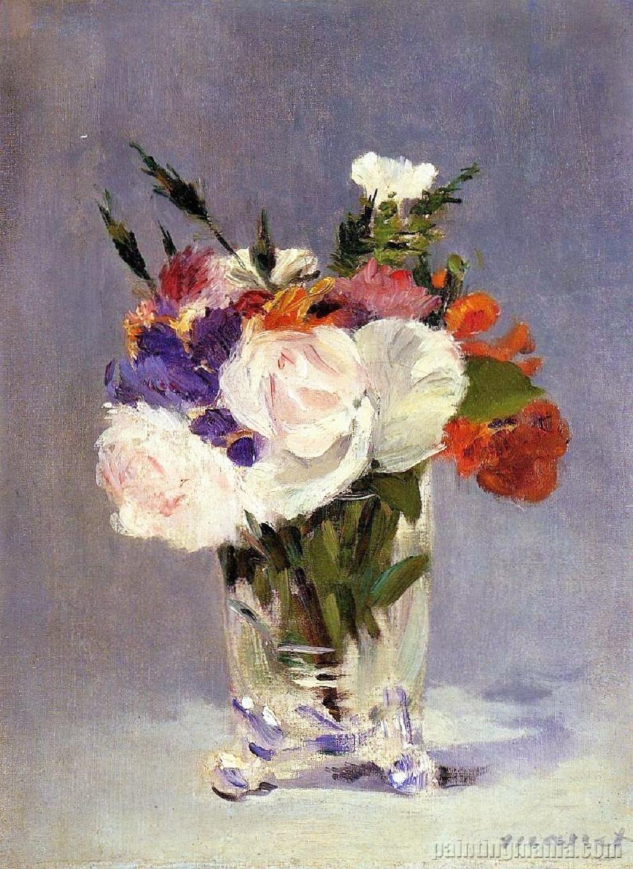 File:Édouard Manet - Roses, Tulips et Lilas dans un vase ... |Manet Flowers