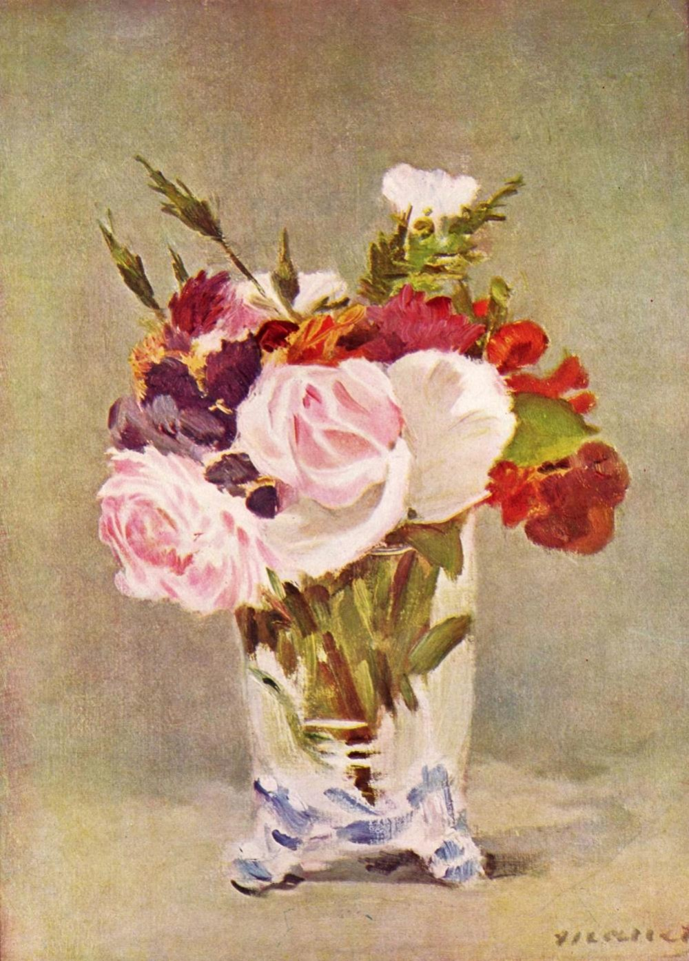 Édouard Manet. Roses, Carnartions, and Peonies. 1880