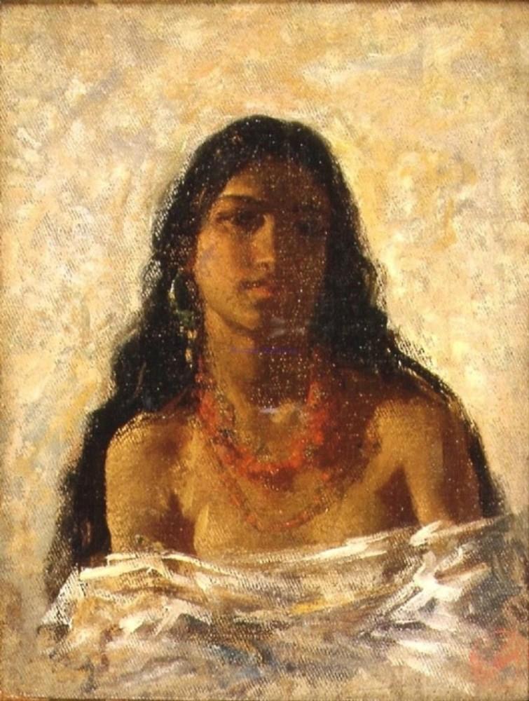 Mariano Fortuny y Marsal. A Gypsy Girl. 1870