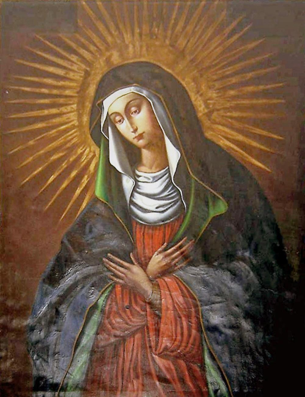 Unknown Artist. Mother of God of Aušros Vartai (Ostrobrama) (Vilnius, Lithuania). 1630s