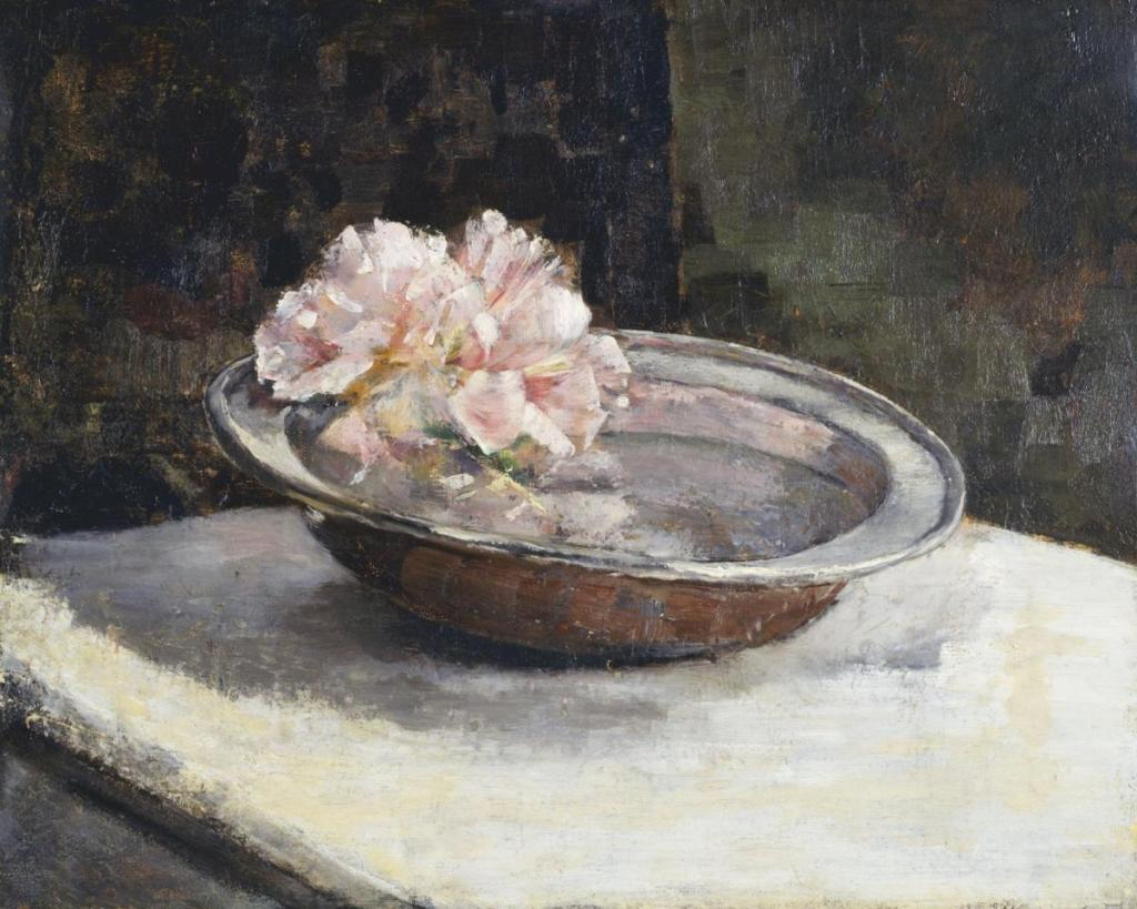 01 Abbot Handerson Thayer. A Still Life with Rhododendron. 1886