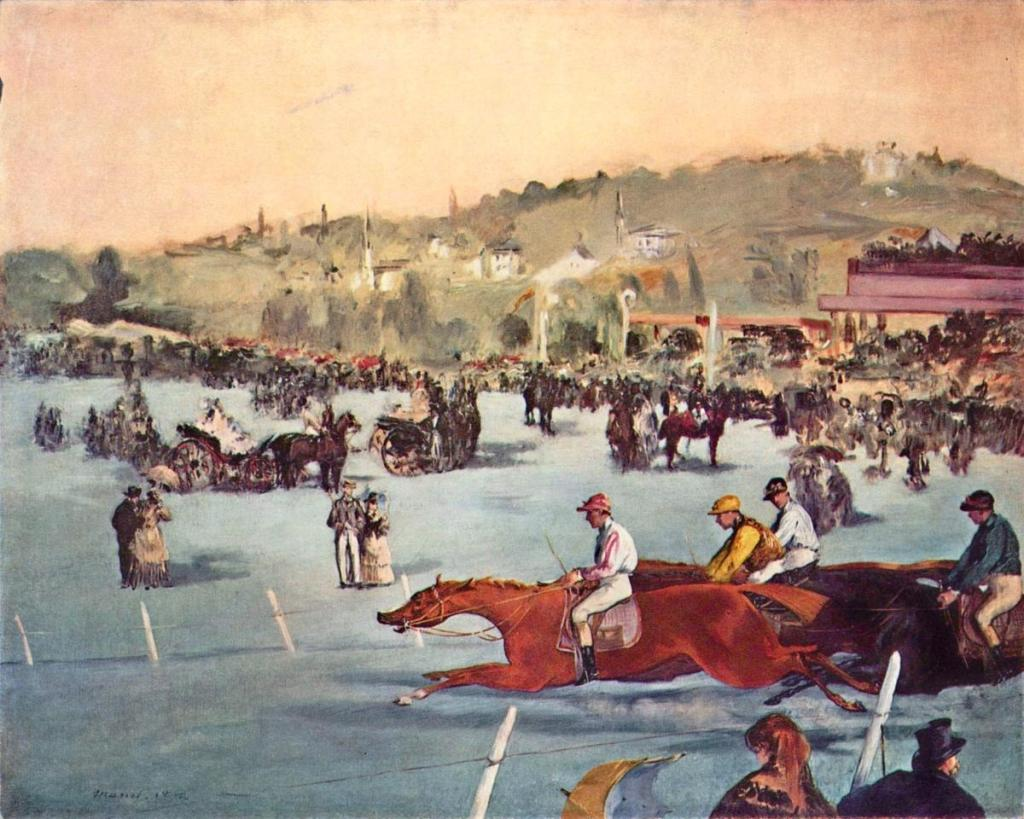 Édouard Manet. A Racing Meet at the Bois de Boulogne. 1872