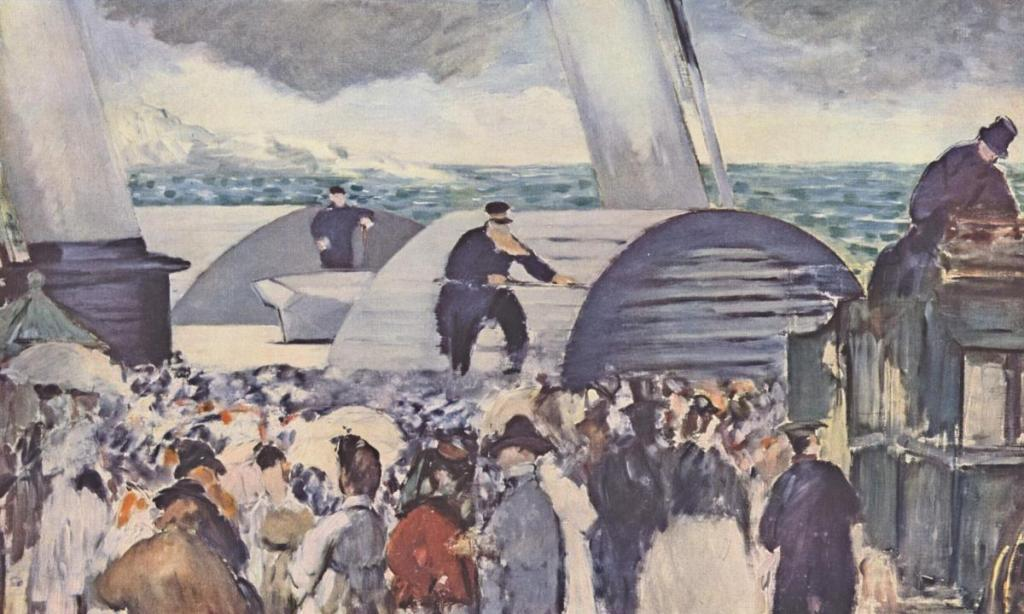 Édouard Manet. An Étude for 'The Departure of the Folkestone Steamer'. 1869
