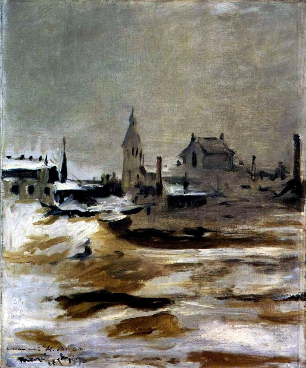 Édouard Manet. Effect of a Snowfall at Petit-Montrouge. 1870