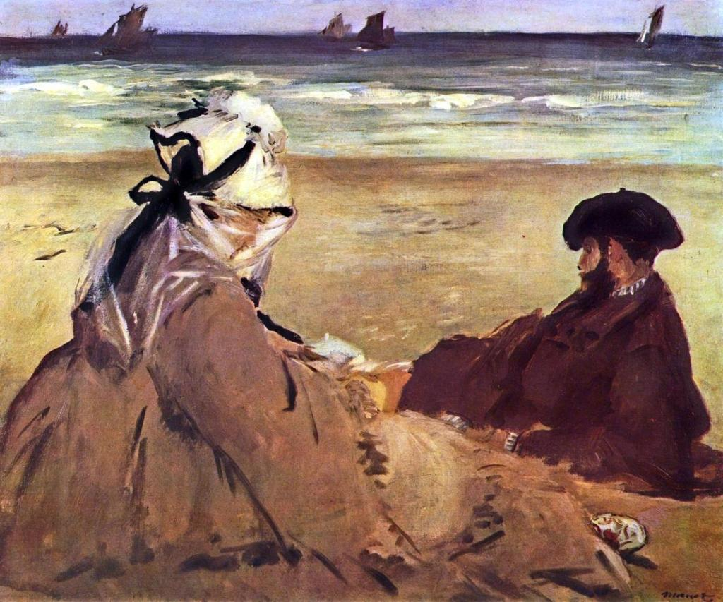 Édouard Manet. On the Beach. 1873