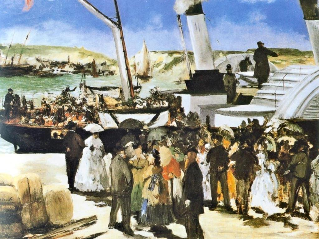 Édouard Manet. The Departure of the Folkestone Steamer. 1869