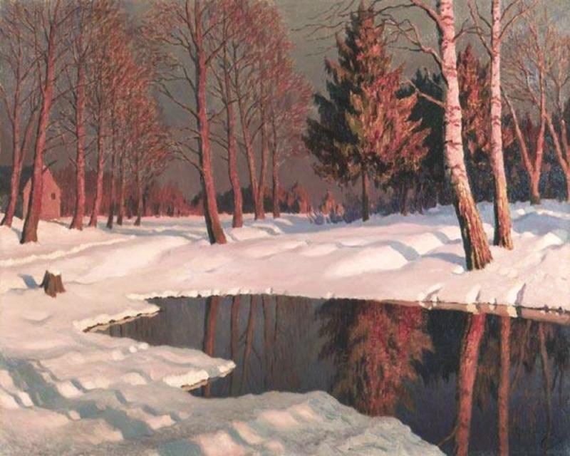 Mikhail Germashyov. A Winter Lake. undated