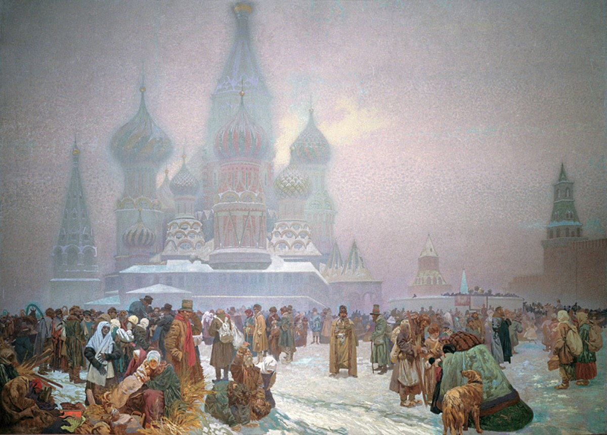 the emancipation of the serfs in russia in 1861 1910s artist pc russian serfs reading the manifesto of 1861 by gr myasoyedov pre-owned $2000 from bulgaria  the emancipation of the serfs in russia:.