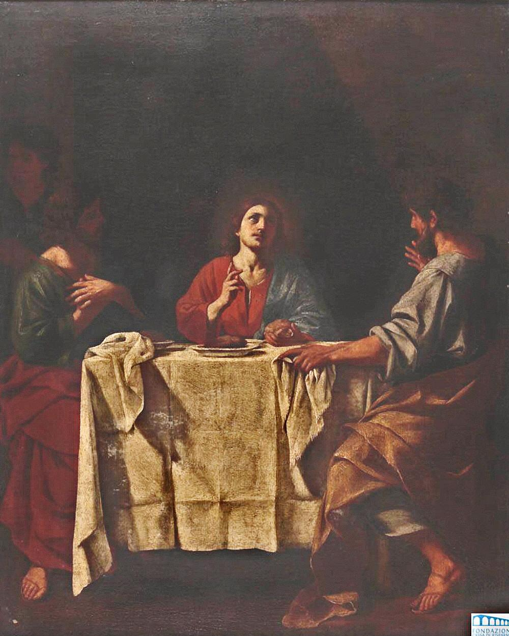 Giacinto Gimignani. The Supper at Emmaus. circa 1678