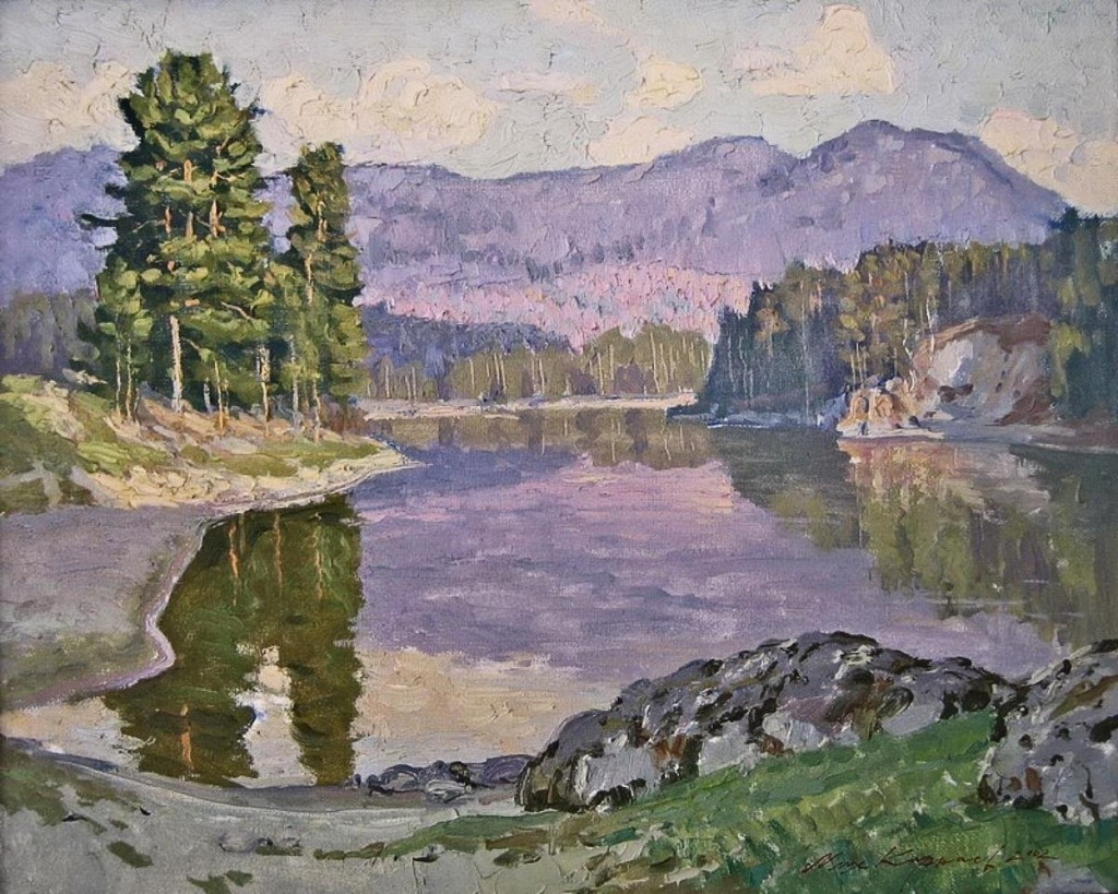 00-mikhail-karnaev-evening-at-lake-manzherok-2002