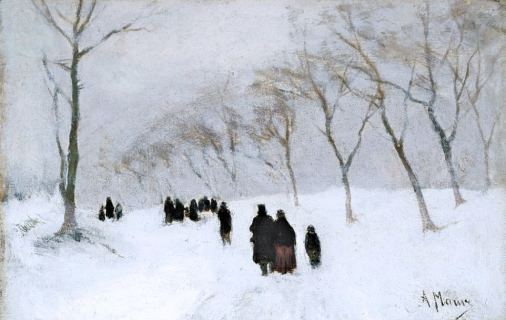 00 Anton Mauve. Snowstorm. first half of the 19th century