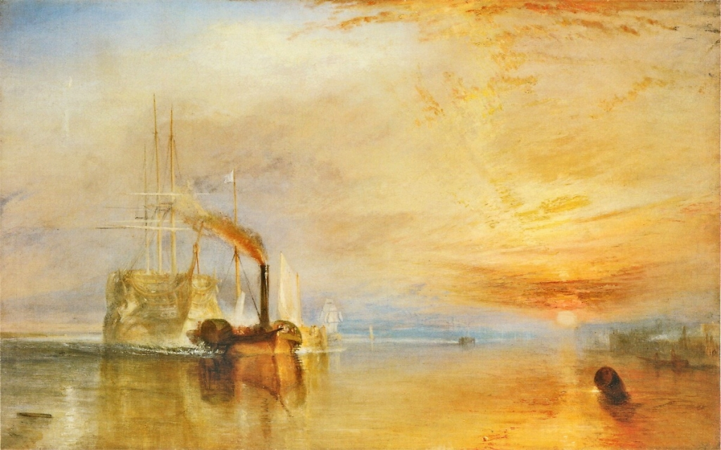 Joseph William Mollard Turner. The Fighting TéméraireTugged to Its Last Berth to be Broken Up, 1838. 1839