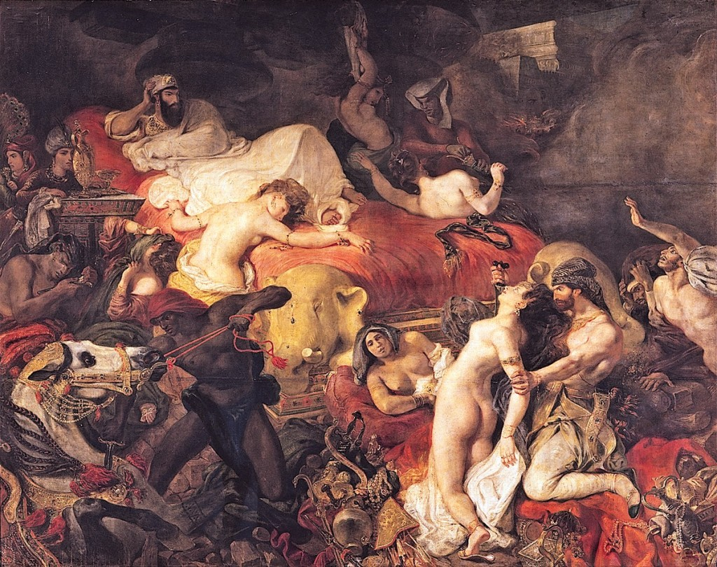 00 Eugène Delacroix. The Death of Sardanapalus. 1827