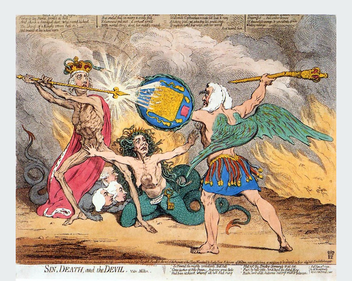 00 James Gillray. Sin, Death, and the Devil. 1792