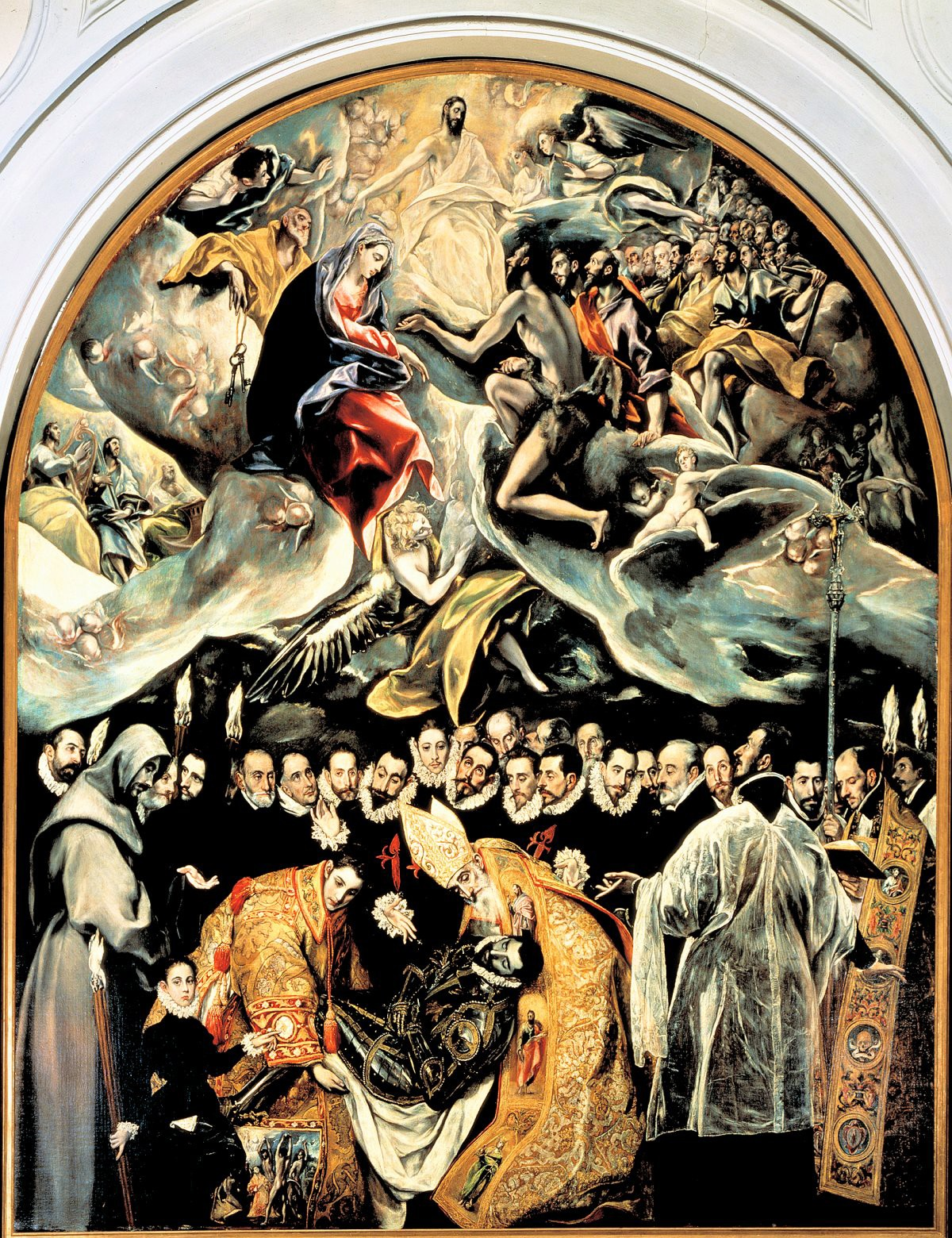 00 El Greco (Domenikos Theotkopoulos). The Burial of Count Orgaz. Iglesia de Santo Tomé. Toledo SPAIN. 1586