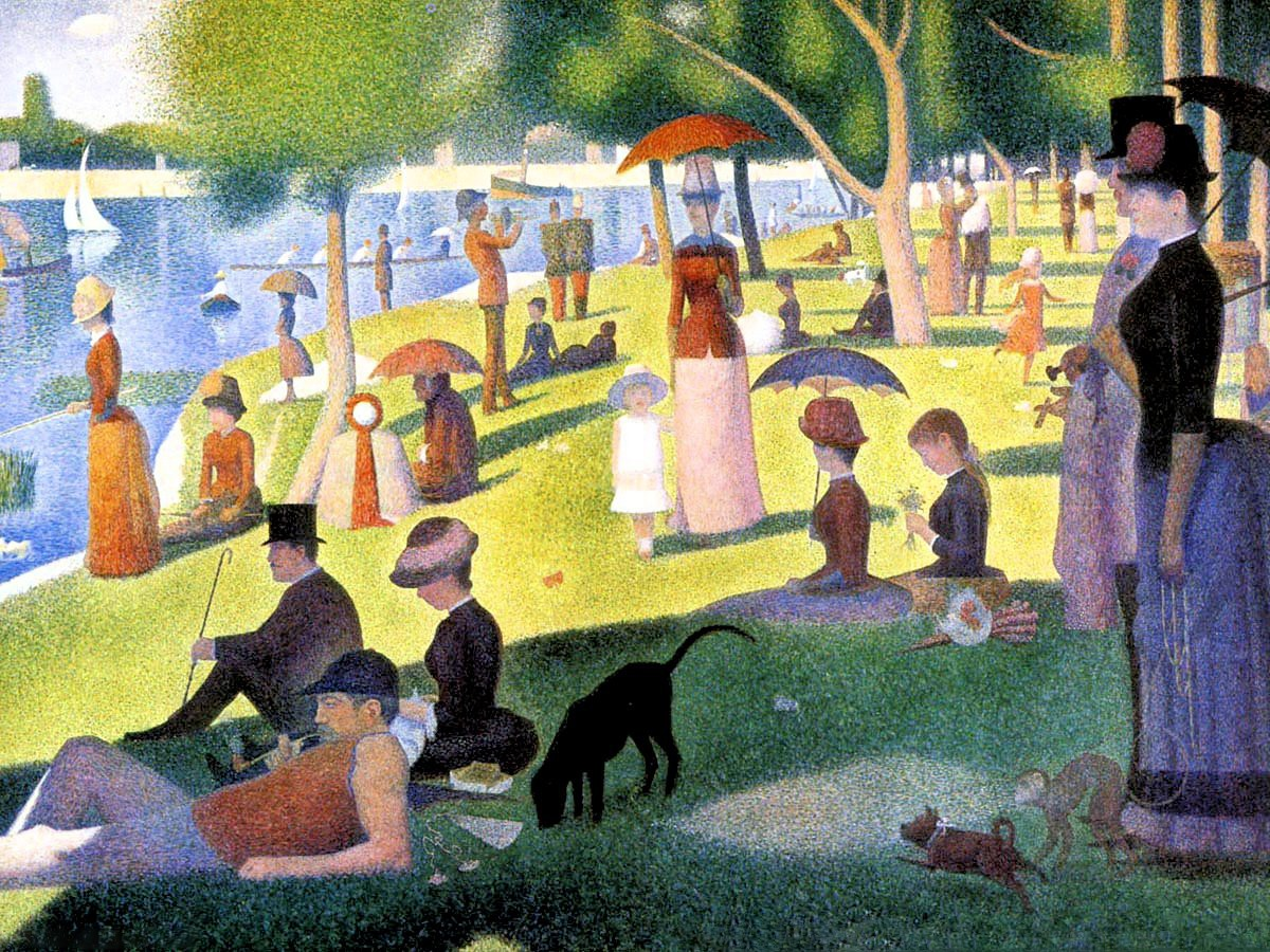00 Georges Pierre Seurat. A Sunday on La Grande Jatte. 1884-86
