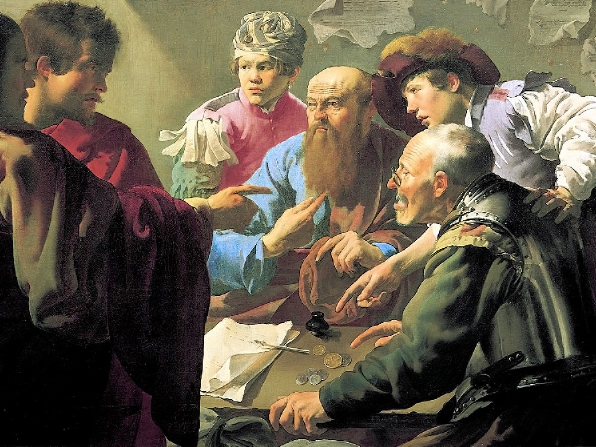 00 Hendrick ter Brugghen. The Calling of St Matthew. 1621