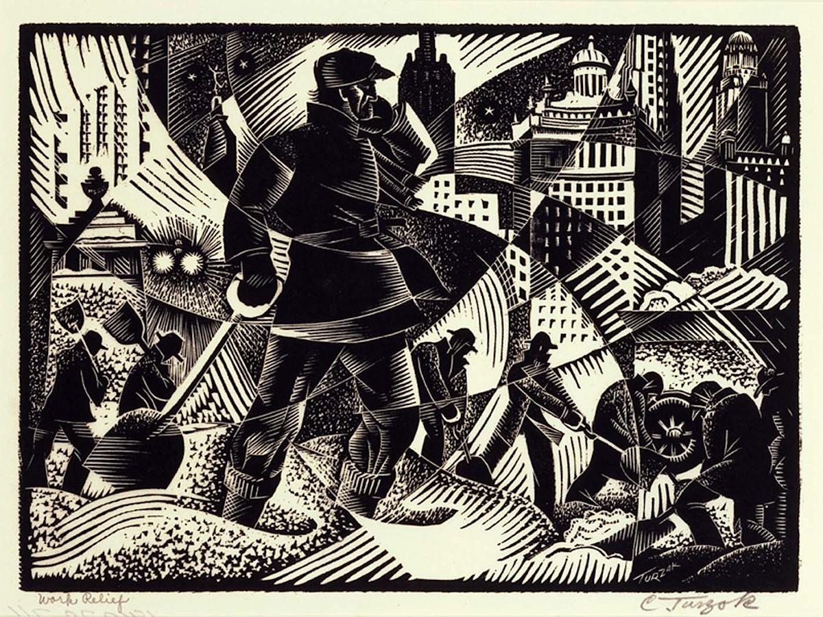 00 Charles Turzak. Work Relief. 1935