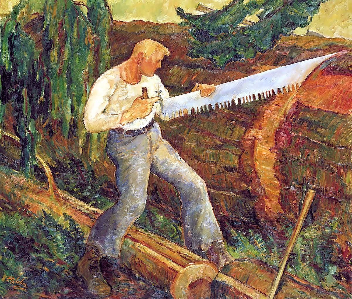 00 Ernest Ralph Norling. The Timber Bucker. 1934