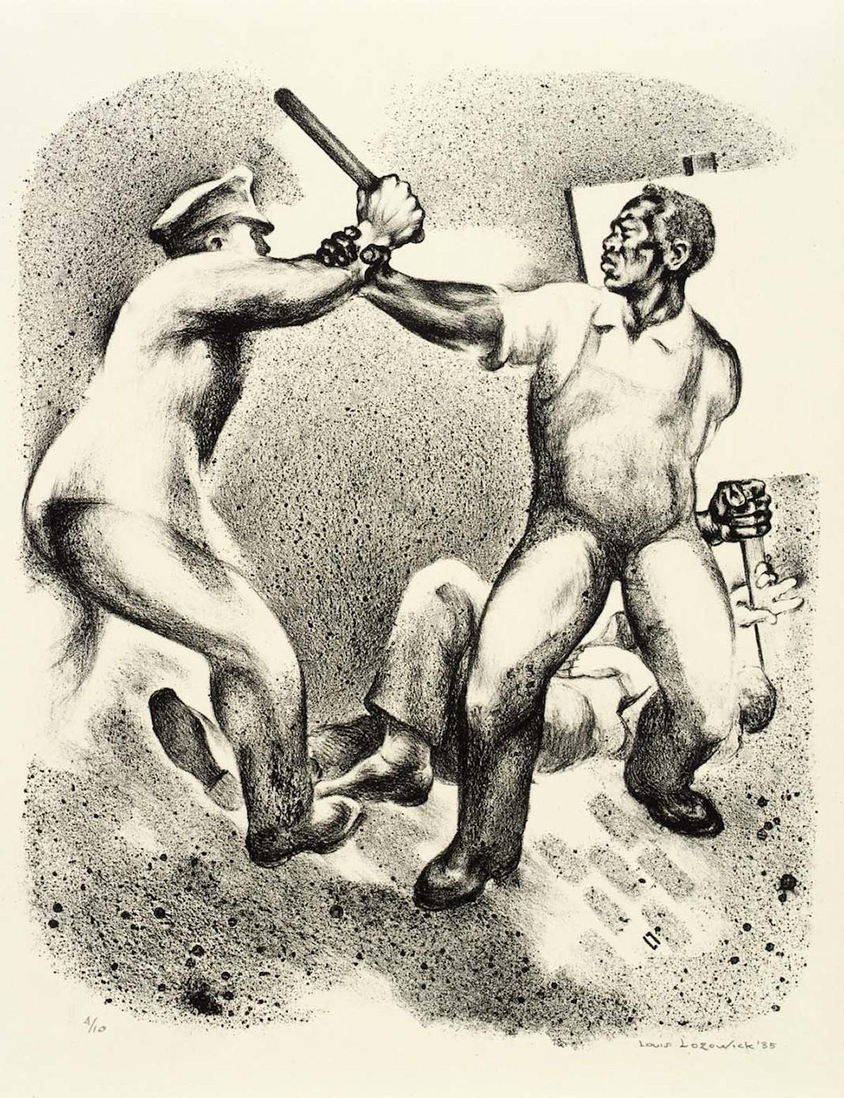 00 Louis Lozowick. Strike Scene. 1935