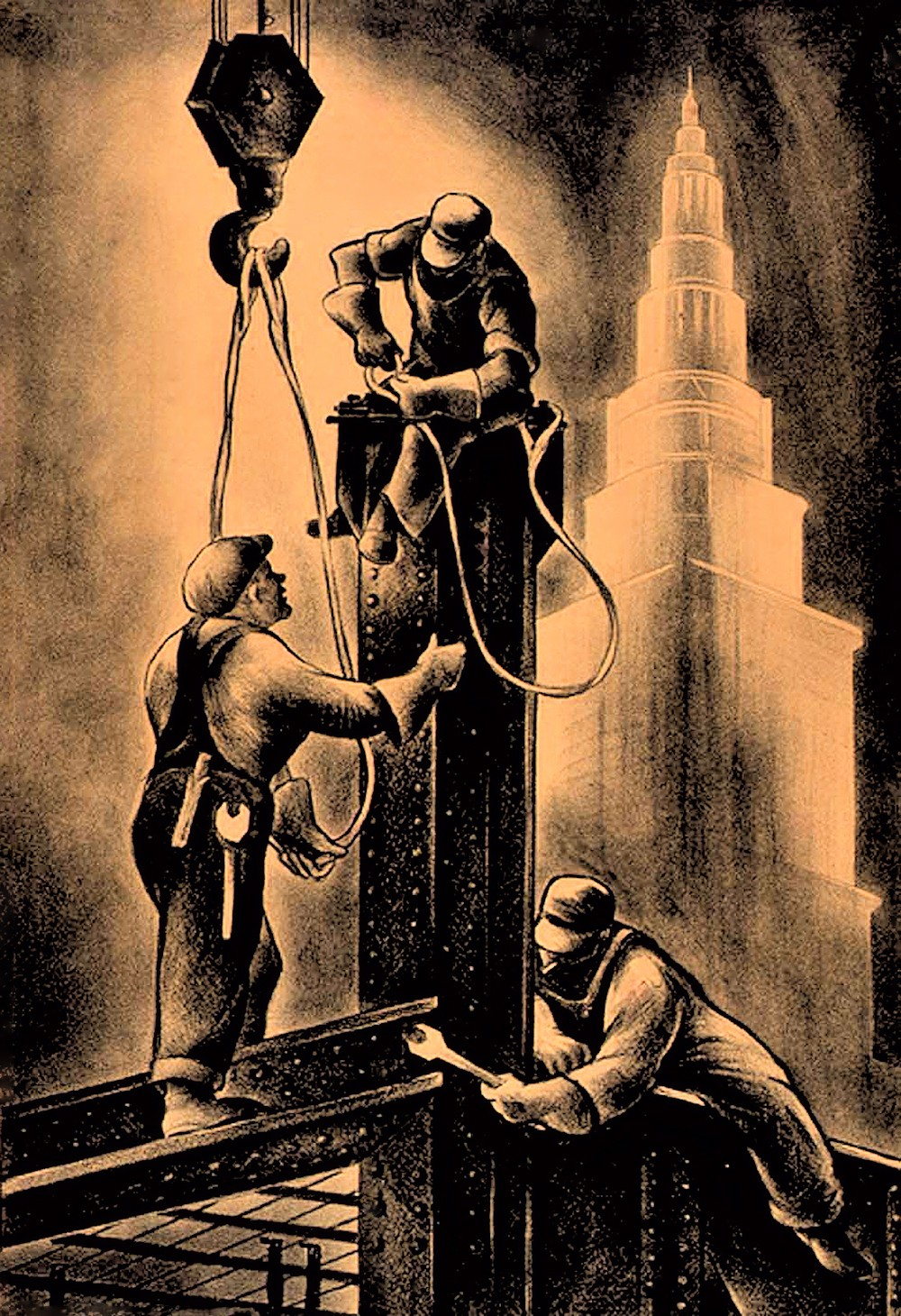 00 Russell Limbach. Steel Workers. 1934