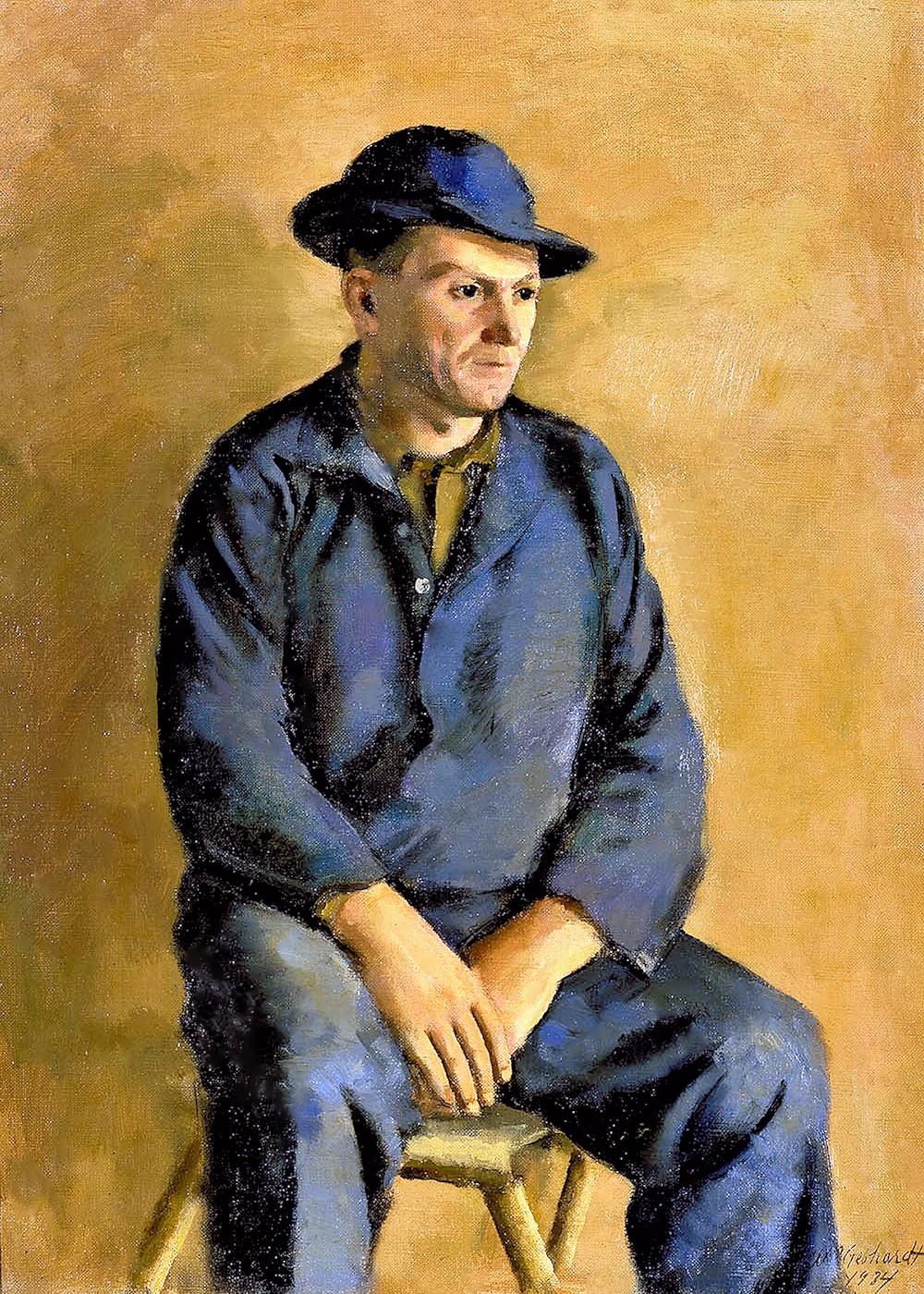 00 William Gebhardt. Joseph Roy, Portrait of a Worker. 1934