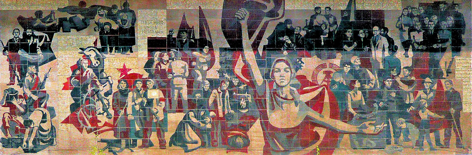 00 Gerhard Bondzin. The Path of the Red Banner. 1969. Dresden DDR. Kulturpalast mural