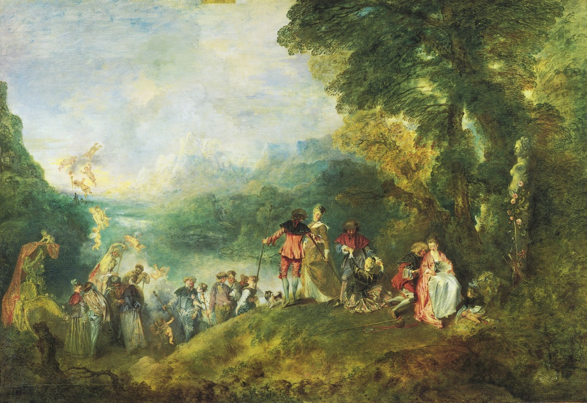 04 Antoine Watteau. The Pilgrimage to the Isle of Cythera. 1717-19