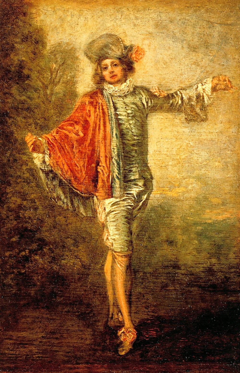 Jean-Antoine Watteau. The Pilgrimage to the Isle of Cythera. 1717-19 » 04  Jean-Antoine Watteau. L'Indifférent. ca 1716