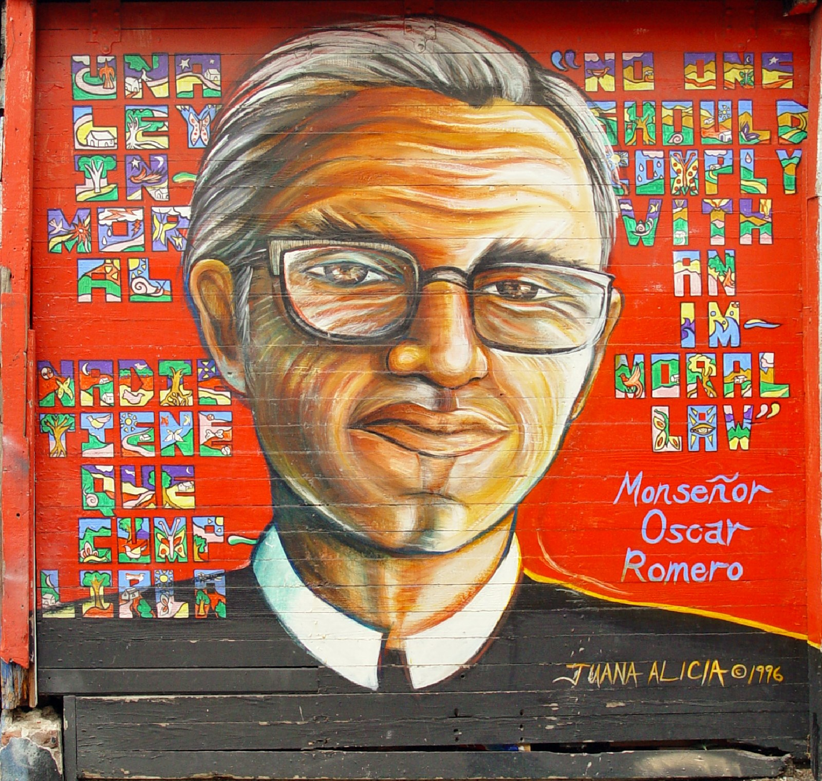 00 Juana Alicia. Monsenor Oscar Romero. 1996