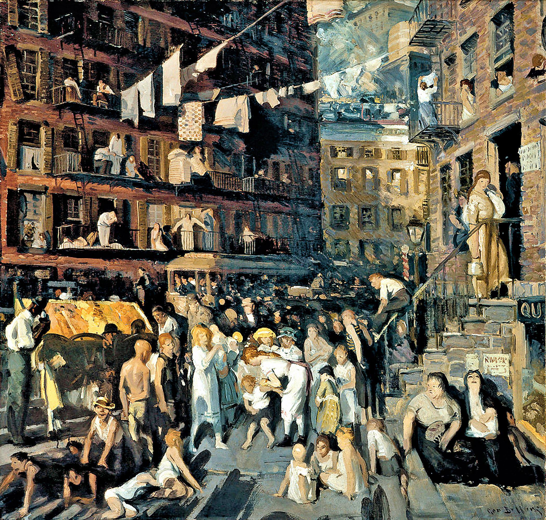 00 George Bellows. Cliff Dwellers. 1913